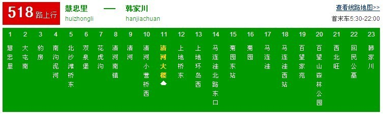 北京时代润宝公司公交线路图